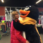 ISI National Skating Events Coordinator Kim Hansen feeling the love from Flip!